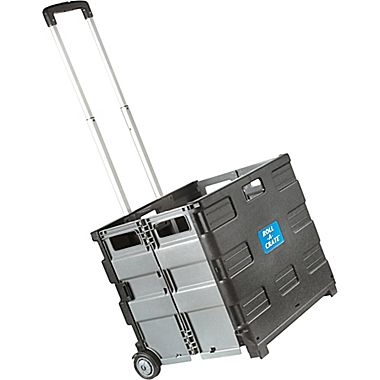 Staples Collapsible Rolling Crate