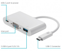USB-C to VGA Multiport Adapter