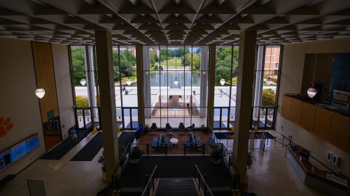 View from inside Cooper Library